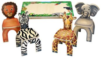 Safari Table Animal Chairs